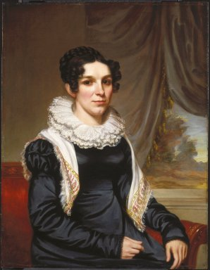Samuel Lovett Waldo (American, 1783-1861). <em>Maria Clarissa Leavitt</em>, ca. 1820-1825. Oil on panel, 33 3/16 x 25 1/2 in. (84.3 x 64.8 cm). Brooklyn Museum, Gift of Anna S. Delafield, Fisher Howe, Lawrence Howe, and R. Warren Howe in memory of their brother, David Leavitt Howe (1915-1995), 1996.43.2 (Photo: Brooklyn Museum, 1996.43.2_SL1.jpg)