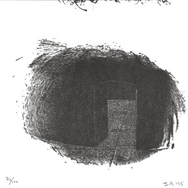 Jene Highstein (American, born 1942). <em>[Untitled]</em>, 1995. Letterpress on paper, 6 x 6 in. (15.2 x 15.2 cm). Brooklyn Museum, Alfred T. White Fund, 1996.51.13. © artist or artist's estate (Photo: Brooklyn Museum, 1996.51.13_PS4.jpg)