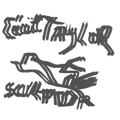 Alain Kirili. <em>To Cecil Taylor</em>, 1995. Letterpress on paper, 6 x 6 in. (15.2 x 15.2 cm). Brooklyn Museum, Alfred T. White Fund, 1996.51.14. © artist or artist's estate (Photo: Brooklyn Museum, 1996.51.14_PS4.jpg)