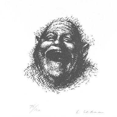 Leonid Lerman (born 1928). <em>[Untitled]</em>, 1995. Letterpress on paper, 6 x 6 in. (15.2 x 15.2 cm). Brooklyn Museum, Alfred T. White Fund, 1996.51.15. © artist or artist's estate (Photo: Brooklyn Museum, 1996.51.15_PS4.jpg)