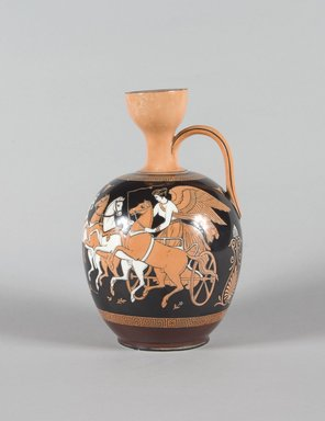 Bates, Brown, Westhead & Moore. <em>Pitcher</em>, ca. 1860. Porcelain, 8 x 5 1/4 x 5 1/4 in. (20.2 x 13.3 x 13.3 cm). Brooklyn Museum, Gift of Mrs. William Liberman, 1996.85.23. Creative Commons-BY (Photo: Brooklyn Museum, 1996.85.23_PS5.jpg)