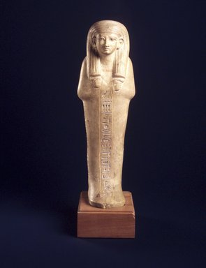 <em>Shabty of the Man Kenamun</em>, ca. 1426-1400 B.C.E. Limestone, pigment, Height 10 1/4 in. (26 cm). Brooklyn Museum, Charles Edwin Wilbour Fund, 1996.89. Creative Commons-BY (Photo: Brooklyn Museum, 1996.89_transpc003.jpg)