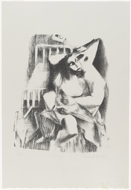 Ernest Crichlow (American, 1914-2005). <em>Lovers</em>, 1938. Lithograph on white wove paper, Sheet: 22 1/4 x 15 3/16 in. (56.5 x 38.6 cm). Brooklyn Museum, Gift of Reba and Dave Williams, 1996.99 (Photo: Brooklyn Museum, 1996.99_PS4.jpg)