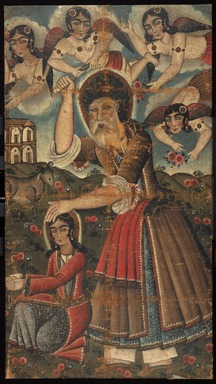 <em>Abraham and Isaac</em>, 19th century. Oil on canvas, 54 3/8 x 29 3/4 in. (138.1 x 75.6cm). Brooklyn Museum, Bequest of Irma B. Wilkinson in memory of her husband, Charles K. Wilkinson, 1997.108.8 (Photo: Brooklyn Museum, 1997.108.8_IMLS_SL2.jpg)