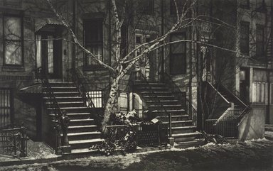 Frederick Mershimer (American, born 1958). <em>Night's Cover</em>, 1994. Mezzotint on paper, sheet: 23 13/16 x 19 7/16 in. (68.2 x 49.4 cm). Brooklyn Museum, Gift of the Estate of John Halverson, 1997.128.7. © artist or artist's estate (Photo: Brooklyn Museum, 1997.128.7.jpg)
