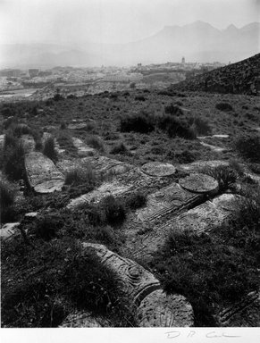 D.R. Cowles (American, born 1950). <em>Jewish Cemetery at Tetuan, Morocco</em>, February 22, 1993. Gold-toned gelatin silver photograph, 9 1/2 x 7 1/2 in. (24.0 x 19.0 cm). Brooklyn Museum, Gift of the artist, 1997.133. © artist or artist's estate (Photo: Brooklyn Museum, 1997.133_bw.jpg)