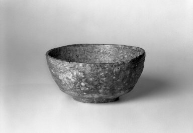 Takahashi Rakusai III (Japanese, 1898-1976). <em>Tea Bowl, Shigaraki Style</em>, ca. 1968. Glazed stoneware, 2 5/8 x 5 9/16 in. (6.8 x 14.2 cm). Brooklyn Museum, Gift of Robert B. Jones, 1997.143.2. Creative Commons-BY (Photo: Brooklyn Museum, 1997.143.2_bw.jpg)