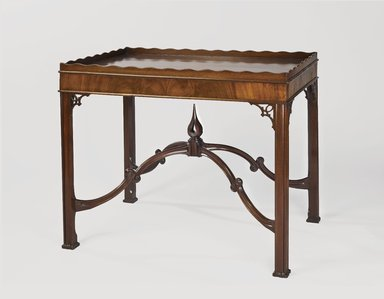 Attributed to Robert Harrold (American, born England, 18th century). <em>Tray-Top Table</em>, ca. 1770. Mahogany and mahogany veneer, 29 1/4 x 34 1/2 x 23 1/2in. (74.3 x 87.6 x 59.7cm). Brooklyn Museum, Matthew Scott Sloan Collection, Gift of Lidie Lane Sloan McBurney, 1997.150.16. Creative Commons-BY (Photo: Brooklyn Museum, 1997.150.16_PS6.jpg)