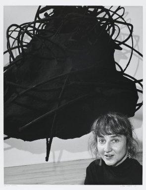 Arthur Mones (American, 1919-1998). <em>Petah Coyne</em>, 1989. Gelatin silver photograph, sheet: 14 x 10 3/4 in. (35.6 x 27.2 cm). Brooklyn Museum, Gift of the artist, 1997.162.10. © artist or artist's estate (Photo: Brooklyn Museum, 1997.162.10_PS4.jpg)