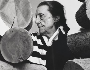 Arthur Mones (American, 1919-1998). <em>Louise Bourgeois</em>, 1988. Gelatin silver photograph, sheet: 10 3/4 x 14 in. (27.2 x 35.6 cm). Brooklyn Museum, Gift of the artist, 1997.162.11. © artist or artist's estate (Photo: Brooklyn Museum, 1997.162.11_PS4.jpg)