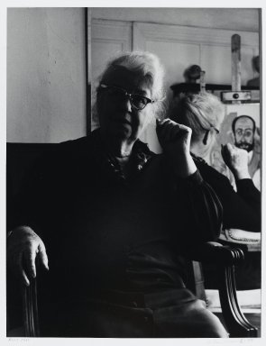 Arthur Mones (American, 1919-1998). <em>Alice Neel</em>, 1979. Gelatin silver photograph, sheet: 14 x 10 3/4 in. (35.6 x 27.2 cm). Brooklyn Museum, Gift of the artist, 1997.162.13. © artist or artist's estate (Photo: Brooklyn Museum, 1997.162.13_PS4.jpg)