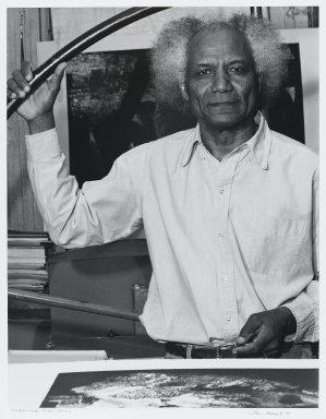 Arthur Mones (American, 1919-1998). <em>Mohammad Omer Khalil</em>, 1995. Gelatin silver photograph, sheet: 14 x 10 3/4 in. (35.6 x 27.2 cm). Brooklyn Museum, Gift of the artist, 1997.162.5. © artist or artist's estate (Photo: Brooklyn Museum, 1997.162.5_PS4.jpg)