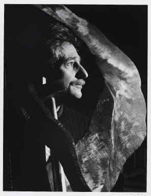 Arthur Mones (American, 1919-1998). <em>Lawrence Fanes</em>, 1988. Gelatin silver photograph, sheet: 14 x 10 3/4 in. (35.6 x 27.2 cm). Brooklyn Museum, Gift of the artist, 1997.162.6. © artist or artist's estate (Photo: Brooklyn Museum, 1997.162.6_PS4.jpg)