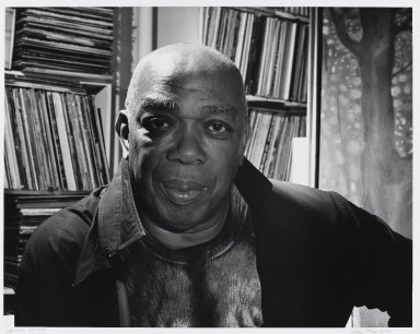 Arthur Mones (American, 1919-1998). <em>Geoffrey Holder</em>, 1994. Gelatin silver photograph, sheet: 10 3/4 x 14 in. (27.2 x 35.6 cm). Brooklyn Museum, Gift of the artist, 1997.162.7. © artist or artist's estate (Photo: Brooklyn Museum, 1997.162.7_PS4.jpg)