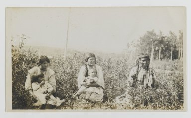 Unknown. <em>[Untitled] (Three Women Seated in a Field with Two Young Children)</em>, ca. 1900. Gelatin silver photograph, 5 1/4 x 3 1/8 in. (13.3 x 8.0 cm). Brooklyn Museum, Gift of Sasha Nyary and Family, 1997.163.15 (Photo: Brooklyn Museum, 1997.163.15_PS2.jpg)
