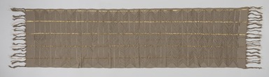 Yorùbá. <em>Woman's shawl (aṣọ-òkè)</em>, 1973. Cotton, metallic thread, 23 1/2 x 91 in. (59.7 x 231.1 cm). Brooklyn Museum, Gift of William C. Siegmann, 1997.172.3. Creative Commons-BY (Photo: , 1997.172.3_PS9.jpg)