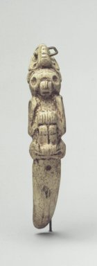 Taino. <em>Ritual Spatula or Swallow Stick</em>, 1200-1500. Bone, 6 1/2 x 1 1/4 x 2 1/2 in. (16.5 x 3.2 x 6.4 cm). Brooklyn Museum, Anonymous gift, 1997.175.1. Creative Commons-BY (Photo: Brooklyn Museum, 1997.175.1.jpg)