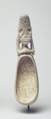 Taino. <em>Cohoba Spoon</em>, 1200-1500. Bone, 8 1/4 x 1 3/4 x 1 1/2 in. (21 x 4.4 x 3.8 cm). Brooklyn Museum, Anonymous gift, 1997.175.2. Creative Commons-BY (Photo: Brooklyn Museum, 1997.175.2.jpg)