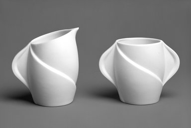 <em>Creamer</em>, ca. 1935. Unglazed ceramic, height: 4 in. Brooklyn Museum, Gift of Rosemarie Haag Bletter and Martin Filler, 1997.186.3. Creative Commons-BY (Photo: , 1997.186.3_1997.186.4_bw.jpg)