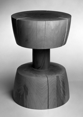 Chris Lehrecke. <em>Pedestal, No. 5</em>, 1997. Walnut, 17 3/4 x 12 1/2 x 12 1/2 in. (45.1 x 31.8 x 31.8 cm). Brooklyn Museum, Gift of Chris Lehrecke, 1997.187.3. Creative Commons-BY (Photo: Brooklyn Museum, 1997.187.3_bw_IMLS.jpg)