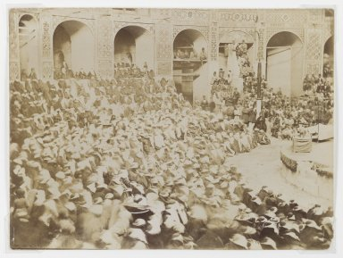 <em>Women Attending a Ta'ziyeh Performance, One of 274 Vintage Photographs</em>, late 19th century. Albumen silver photograph, 7 1/8 x 9 9/16 in.  (18.1 x 24.3 cm). Brooklyn Museum, Purchase gift of Leona Soudavar in memory of Ahmad Soudavar, 1997.3.134 (Photo: Brooklyn Museum, 1997.3.134_IMLS_PS3.jpg)