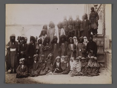 <em>Actors of a Passion Play,  One of 274 Vintage Photographs</em>, late 19th-early 20th century. Albumen silver photograph, 6 1/8 x 8 1/4 in. (15.6 x 21 cm). Brooklyn Museum, Purchase gift of Leona Soudavar in memory of Ahmad Soudavar, 1997.3.231 (Photo: Brooklyn Museum, 1997.3.231_IMLS_PS3.jpg)