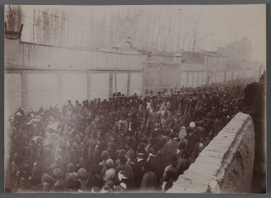 <em>A Ceremonial Procession, One of 274 Vintage Photographs</em>, late 19th-early 20th century. Gelatin silver printing out paper, 4 3/4 x 6 9/16 in.  (12.0 x 16.6 cm). Brooklyn Museum, Purchase gift of Leona Soudavar in memory of Ahmad Soudavar, 1997.3.251 (Photo: Brooklyn Museum, 1997.3.251_IMLS_PS3.jpg)