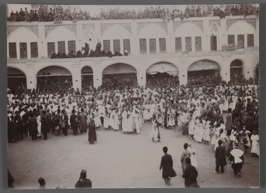 <em>Morning Ceremony,   One of 274 Vintage Photographs</em>, late 19th-early 20th century. Gelatin silver printing out paper, 4 13/16 x 6 9/16 in.  (12.2 x 16.7 cm). Brooklyn Museum, Purchase gift of Leona Soudavar in memory of Ahmad Soudavar, 1997.3.254 (Photo: Brooklyn Museum, 1997.3.254_IMLS_PS3.jpg)