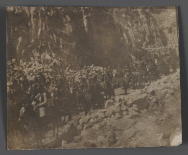 <em>[Untitled],  One of 274 Vintage Photographs</em>, late 19th-early 20th century. Gelatin silver developing- out photograph, 2 3/4 x 3 3/8 in.  (7 x 8.5 cm). Brooklyn Museum, Purchase gift of Leona Soudavar in memory of Ahmad Soudavar, 1997.3.274 (Photo: Brooklyn Museum, 1997.3.274_IMLS_PS3.jpg)