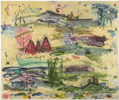 Joan Snyder (American, born 1940). <em>Untitled Journey</em>, 1996. Monoprint on paper, Sheet: 33 9/16 x 40 in. (85.2 x 101.6 cm). Brooklyn Museum, Alfred T. White Fund, 1997.41. © artist or artist's estate (Photo: Brooklyn Museum, 1997.41_PS2.jpg)