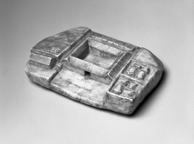 <em>Amuletic Carving (Chacras)</em>, 19th-20th century. Stone, 1 1/2 x 6 1/2 x 4 1/2 in. (3.8 x 16.5 x 11.4 cm). Brooklyn Museum, Gift of Bill and Gale Simmons, 1997.58.2. Creative Commons-BY (Photo: Brooklyn Museum, 1997.58.2_bw.jpg)