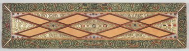 <em>Upper Cover from an Unidentified Manuscript</em>, ca. 13th century. Wood, color, semiprecious stones, 7 1/8 x 28 1/2 x 1 in. (72.4 x 18.0 x 2.5 cm). Brooklyn Museum, Gift of the Asian Art Council, 1997.59.2. Creative Commons-BY (Photo: Brooklyn Museum, 1997.59.2_transp4574.jpg)