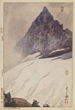 Hiroshi Yoshida (Japanese, 1876-1950). <em>Yarigatake A</em>. Woodblock print on paper, image: 12 3/4 x 9 3/4 in. Brooklyn Museum, Gift of Mrs. William R. Liberman, 1997.60.2. © artist or artist's estate (Photo: Brooklyn Museum, 1997.60.2_IMLS_PS3.jpg)