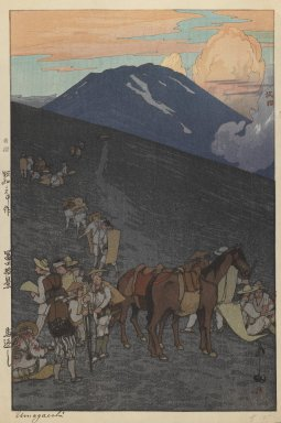 Hiroshi Yoshida (Japanese, 1876-1950). <em>Umagaeshi</em>, 1900-1950. Woodblock color print, image: 14 3/4 x 9 3/4 in. Brooklyn Museum, Gift of Mrs. William R. Liberman, 1997.60.6. © artist or artist's estate (Photo: Brooklyn Museum, 1997.60.6_IMLS_PS3.jpg)