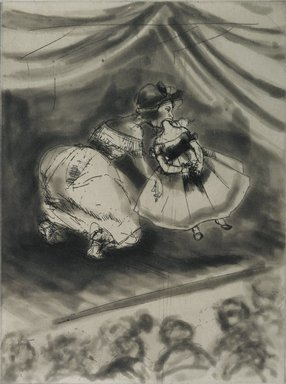 Kara Walker (American, born 1969). <em>Vanishing Act</em>, 1997. Ink etching and aquatint on paper, sheet: 18 x 15 in. (45.7 x 38.1 cm). Brooklyn Museum, Emily Winthrop Miles Fund, 1997.80.1. © artist or artist's estate (Photo: Brooklyn Museum, 1997.80.1_PS1.jpg)