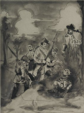 Kara Walker (American, born 1969). <em>Li'l Patch of Woods</em>, 1997. Etching on paper, sheet: 18 x 14 15/16 in. (45.7 x 37.9 cm). Brooklyn Museum, Emily Winthrop Miles Fund, 1997.80.2. © artist or artist's estate (Photo: Brooklyn Museum, 1997.80.2_PS1.jpg)