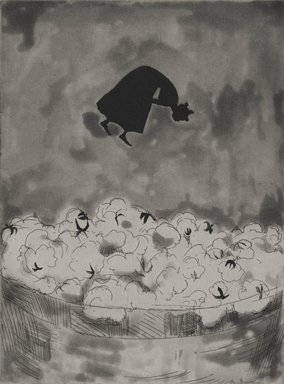 Kara Walker (American, born 1969). <em>Cotton</em>, 1997. Ink etching and aquatint on paper, sheet: 18 x 15 in. (45.7 x 38.1 cm). Brooklyn Museum, Emily Winthrop Miles Fund, 1997.80.4. © artist or artist's estate (Photo: Brooklyn Museum, 1997.80.4_PS2.jpg)