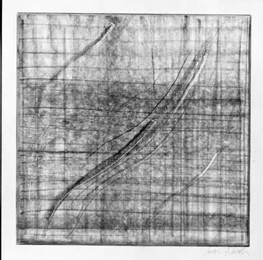 Susan Schwalb (American, born 1944). <em>Traces #2</em>, 1997. Copper-point on paper with ground, image: 7 7/8 x 7 15/16 in. (20.0 x 20.2 cm). Brooklyn Museum, Alfred T. White Fund, 1997.83.2. © artist or artist's estate (Photo: Brooklyn Museum, 1997.83.2_bw.jpg)