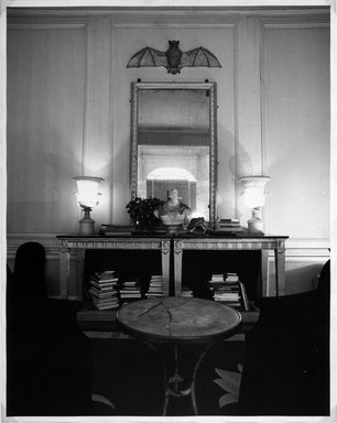 Jean Kallina (American, born 1956). <em>Bust in Room, Fred Hughes' Apartment</em>, 1989. Gelatin silver photograph, sheet: 20 x 16 in. (50.7 x 40.8 cm). Brooklyn Museum, Alfred T. White Fund, 1997.86.2. © artist or artist's estate (Photo: Brooklyn Museum, 1997.86.2_bw.jpg)