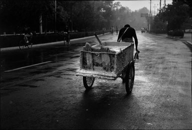 Larry Silver (American, born 1934). <em>Hauling Concrete, Yangzhou City, China</em>, 1996; printed 1997. Gelatin silver photograph, image: 12 3/4 x 18 1/2 in. (30.8 x 47.6 cm). Brooklyn Museum, Gift of Bruce Silverstein, 1997.99.2. © artist or artist's estate (Photo: Brooklyn Museum, 1997.99.2_bw.jpg)