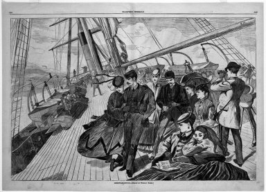Winslow Homer (American, 1836-1910). <em>Homeward Bound</em>, 1867. Wood engraving, Image: 13 5/8 x 20 1/2 in. (34.6 x 52.1 cm). Brooklyn Museum, Gift of Harvey Isbitts, 1998.105.101 (Photo: Brooklyn Museum, 1998.105.101_bw.jpg)