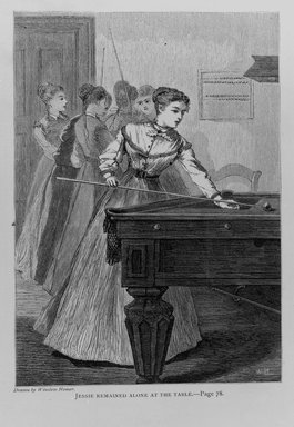 Winslow Homer (American, 1836-1910). <em>Jessie Remained Alone at the Table</em>, 1868. Wood engraving, Image: 7 x 5 3/4 in. (17.8 x 14.6 cm). Brooklyn Museum, Gift of Harvey Isbitts, 1998.105.110 (Photo: Brooklyn Museum, 1998.105.110_bw.jpg)