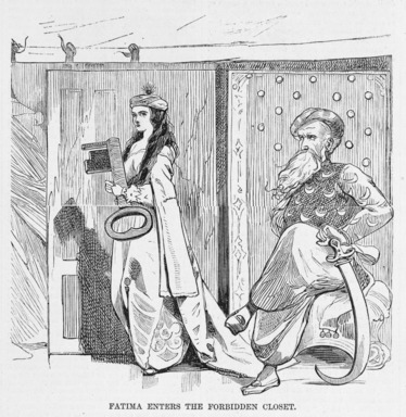 Winslow Homer (American, 1836-1910). <em>The Blue Beard Tableau: Fatima Enters the Forbidden Closet; What She Sees There; Disposition of the Bodies (Invisible to the Spectators)</em>, 1868. Wood engraving, Image (a): 4 1/2 x 4 5/8 in. (11.4 x 11.7 cm). Brooklyn Museum, Gift of Harvey Isbitts, 1998.105.118a-c (Photo: Brooklyn Museum, 1998.105.118a_SL3.jpg)