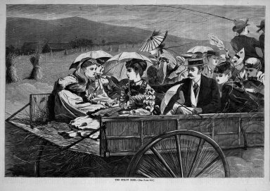 Winslow Homer (American, 1836-1910). <em>The Straw Ride</em>, 1869. Wood engraving, Sheet: 9 3/16 x 13 7/8 in. (23.3 x 35.2 cm). Brooklyn Museum, Gift of Harvey Isbitts, 1998.105.136 (Photo: Brooklyn Museum, 1998.105.136_bw.jpg)