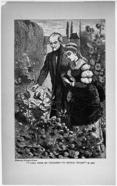 "Winslow Homer (American, 1836-1910). <em>""I Call Them My Children--To Myself, Susan,""</em> 1869. Wood engraving, Image: 7 x 4 1/2 in. (17.8 x 11.4 cm). Brooklyn Museum, Gift of Harvey Isbitts, 1998.105.137 (Photo: Brooklyn Museum, 1998.105.137_bw.jpg)"