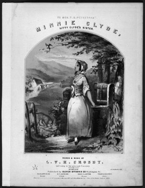 Winslow Homer (American, 1836-1910). <em>Minnie Clyde: Kitty Clyde's Sister</em>, 1857. Lithograph, sheet: 13 x 11 in. (33 x 27.9 cm). Brooklyn Museum, Gift of Harvey Isbitts, 1998.105.1 (Photo: Brooklyn Museum, 1998.105.1_bw.jpg)
