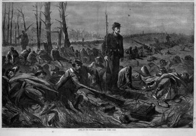 Winslow Homer (American, 1836-1910). <em>Army of the Potomac--Sleeping on Their Arms</em>, 1864. Wood engraving, Image: 13 3/4 x 20 7/8 in. (34.9 x 53 cm). Brooklyn Museum, Gift of Harvey Isbitts, 1998.105.88 (Photo: Brooklyn Museum, 1998.105.88_bw.jpg)