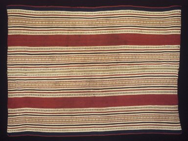 Aymara. <em>Mantle</em>, 19th century. Camelid fiber, 31 3/4 x 42 1/4 in. (80.6 x 107.3 cm). Brooklyn Museum, Gift of Elena Phipps, 1998.131. Creative Commons-BY (Photo: Brooklyn Museum, 1998.131_transpc006.jpg)