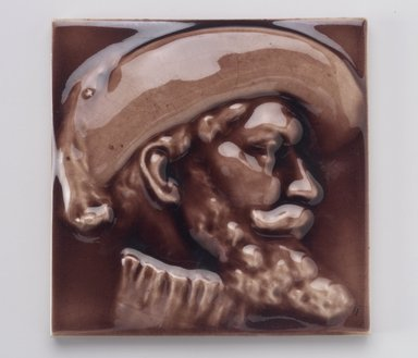 International Tile Company. <em>Tile</em>, 1882-1888. Earthenware, 3/4 x 6 x 6 in. (1.9 x 15.2 x 15.2 cm). Brooklyn Museum, Gift of Susan I. Padwee in honor of Dr. Barry R. Harwood, 1998.149.1. Creative Commons-BY (Photo: Brooklyn Museum, 1998.149.1.jpg)