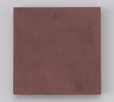 International Tile Company. <em>Tile</em>, 1882-1888. Unglazed earthenware, 1/2 x 4 1/2 x 4 1/2 in. (1.3 x 11.4 x 11.4 cm). Brooklyn Museum, Gift of Susan I. Padwee in honor of Dr. Barry R. Harwood, 1998.149.3. Creative Commons-BY (Photo: Brooklyn Museum, 1998.149.3.jpg)